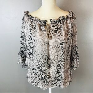 Cynthia Steefe python print silk blouse medium